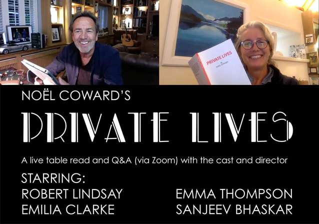 PRIVATE LIVES: Lockdown With Emma Thompson & Robert Lindsay!
